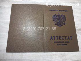 Аттестат 9 класс 2007-2009 года-2