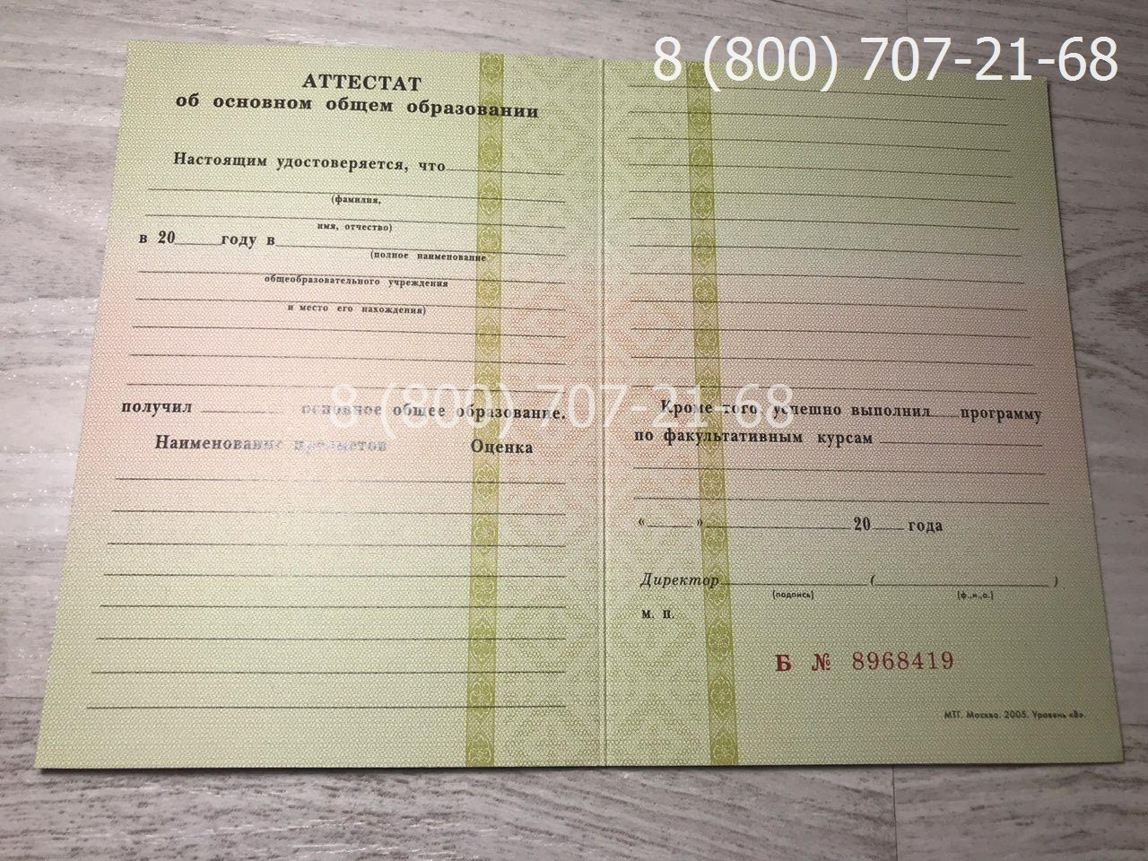 Аттестат 9 класс 1994-2006 года-1