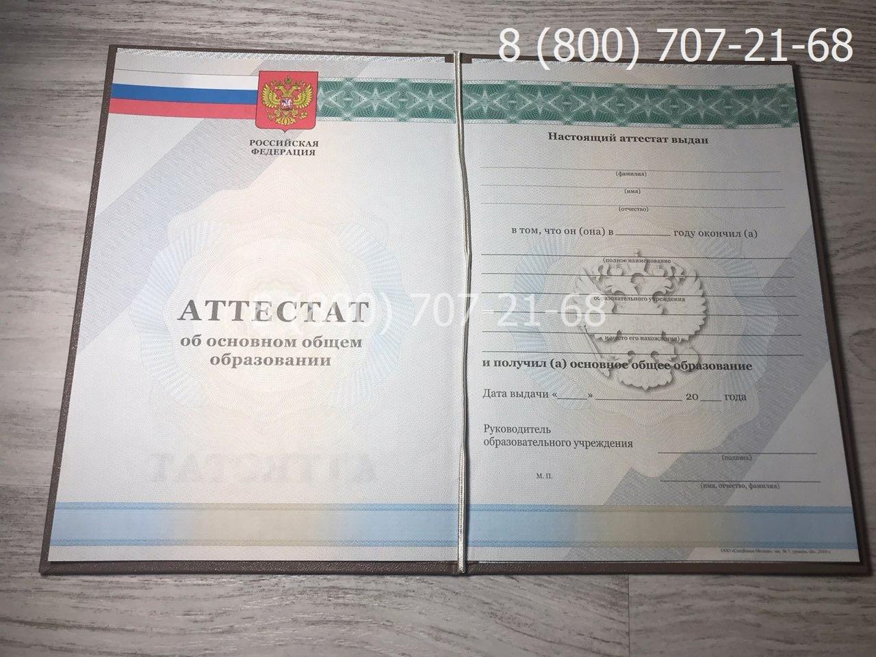 Аттестат 9 класс 2010-2013 года 1
